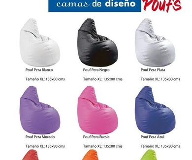 Poufs Pera disponibles en Todos los Colores !!! Colchoneria Moderna