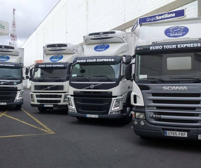 Transporte de mercancía a temperatura ambiente: Servicios de Euro Tour Express S.L.