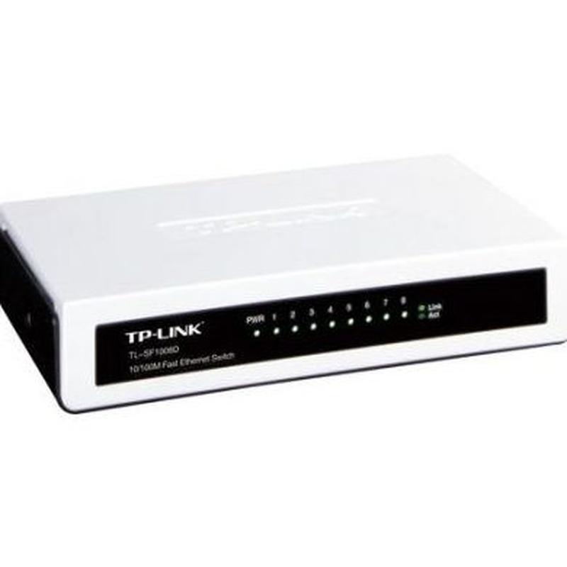 TP-LINK TL-SF1008D Switch 8p 10/100M mini plástico : Productos y Servicios de Stylepc