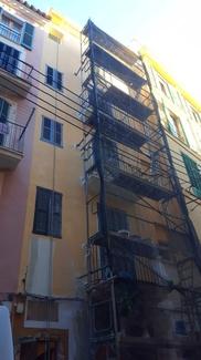 Restauracion de fachada en Palma casco antiguo