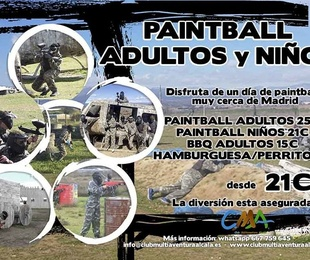Dia 26 de Mayo Paintball Adultos y Familiar