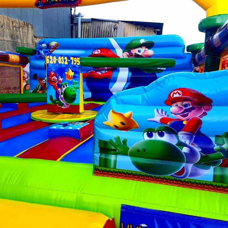 Eliminator Mario bros redes: Catálogo de Hinchables Happy Jump