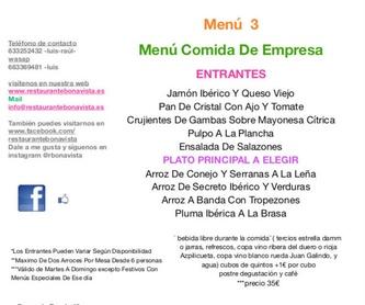 Menú Dia de Reyes: Carta y Menús de Restaurante Bonavista