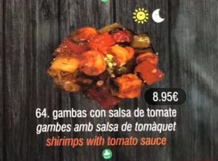 Gambas con salsa de tomate: Carta de DANI LIU