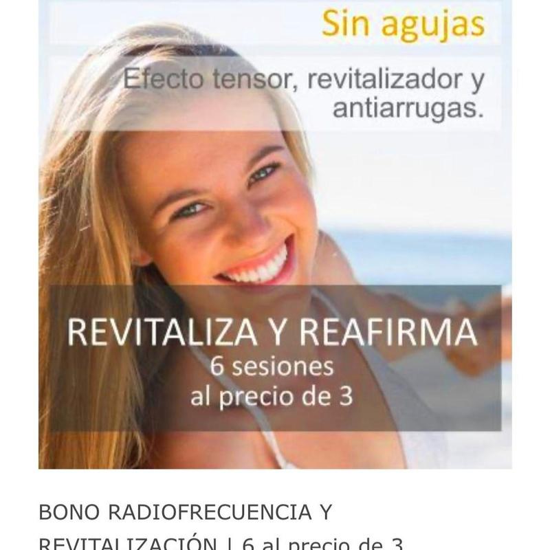 BONO RADIOFRECUENCIA Y REVITALIZACIÓN: Tratamientos de Clínica Dra. Darinka Garay
