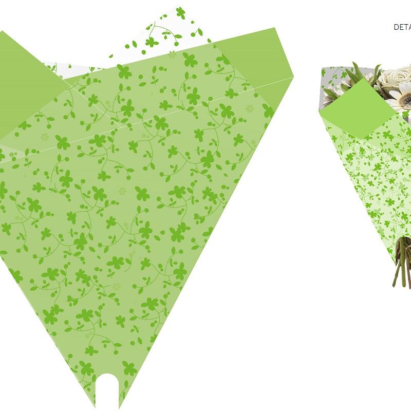 """PQTEx50 BOLSAS PARA BOUQUET MODELO """"Happiness"""" (50x44CM)/ VERDE REF: G17053 PRECIO: 16€/PQTE"""