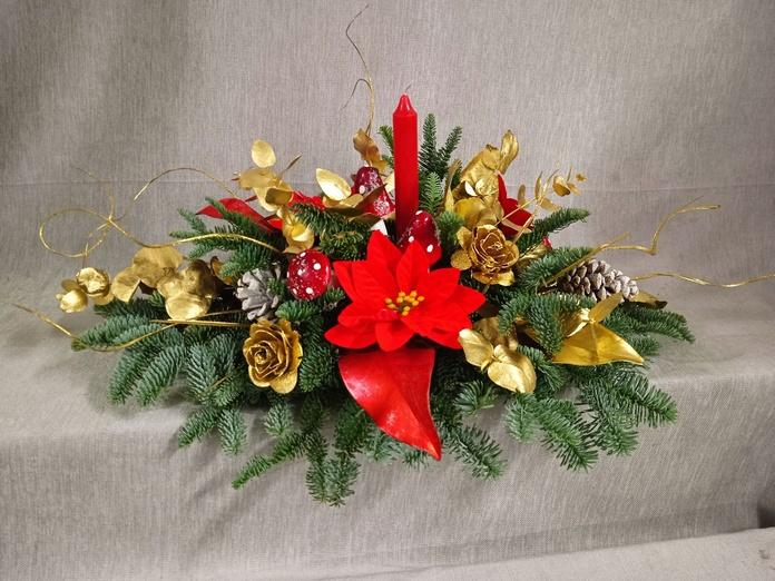Centro horizontal, decorativo para navidad: CATALOGO de Floristería Manuela