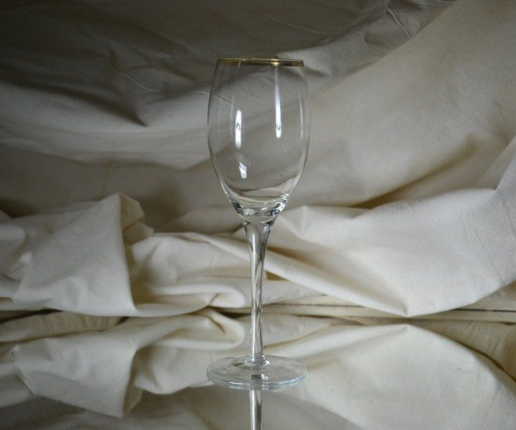 La fabricación de una copa de cristal