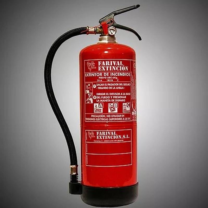 Extintores: Servicios y productos de Incoval Protección Contra Incendios