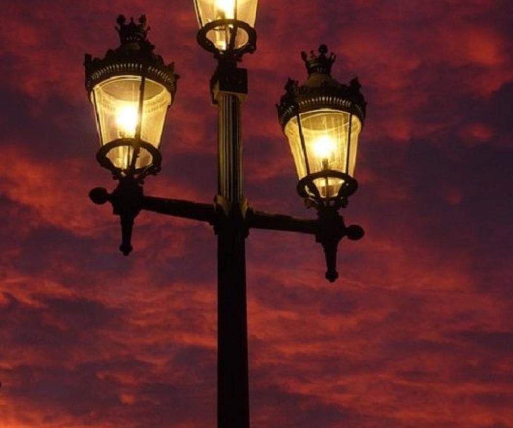 Alumbrado público con bombillas LED