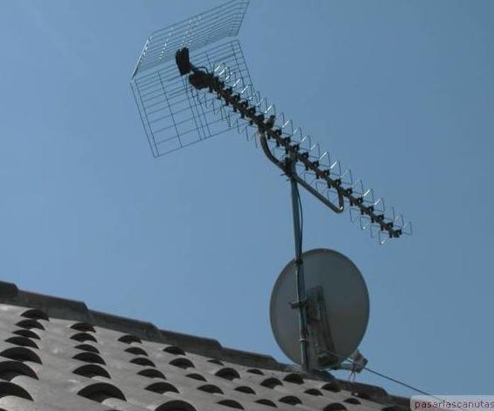 Antena TV y parabolica