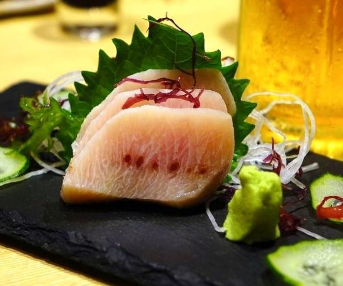 Pescado con Wasabi