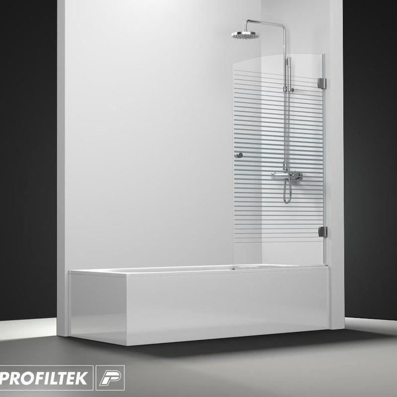 Mampara de baño Profiltek serie Newglass modelo NG-101 decoración Forever