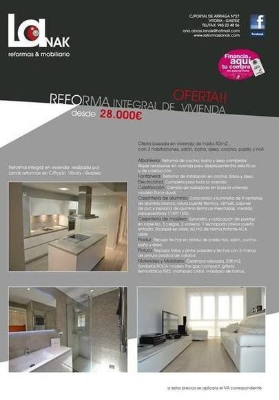 Reforma integral de vivienda Vitoria