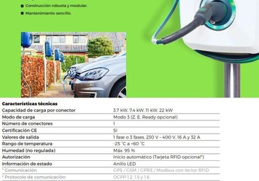 Punto de carga para coche eléctrico