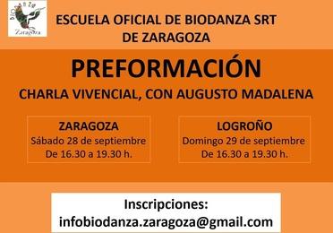 Charla vivencial de Preformación en Biodanza con Augusto Madalena