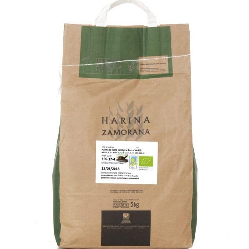 Harina de trigo ecológica blanca W-300 5 kg: Productos de Coperblanc Zamorana