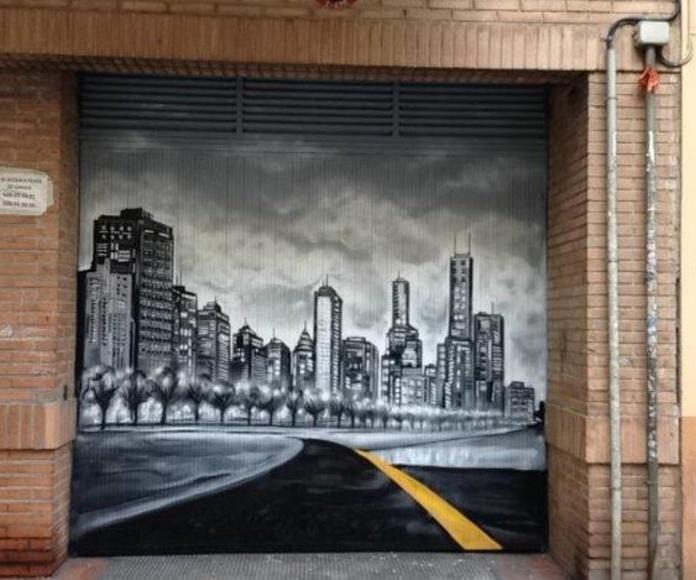 Mural Artístico entrada garaje
