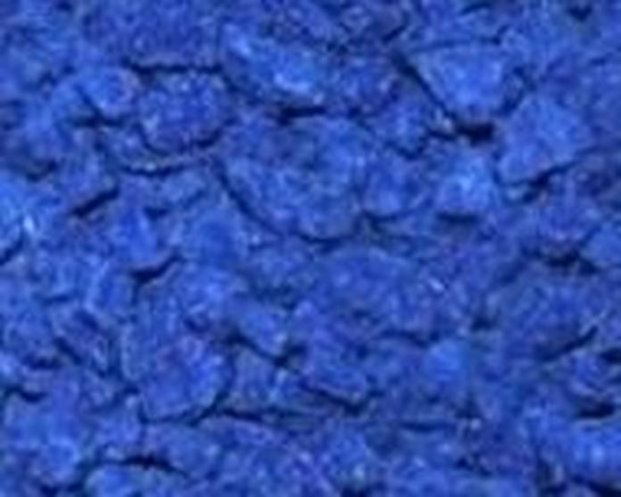 Triturado pigmentado en color azul