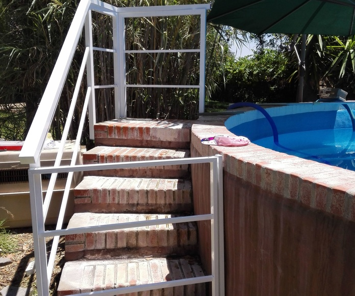 Barandilla piscina redonda