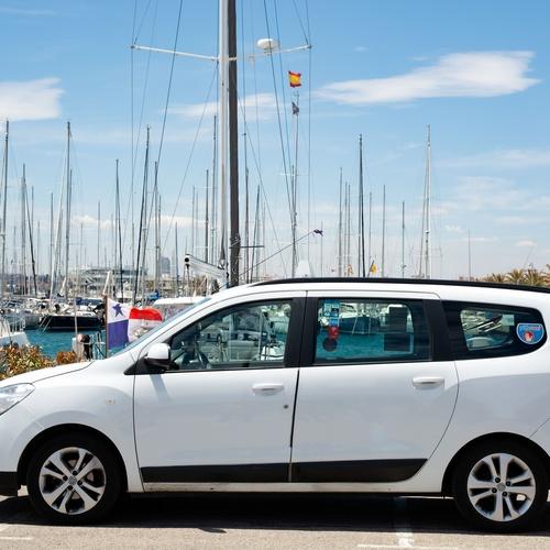 Taxi en el puerto