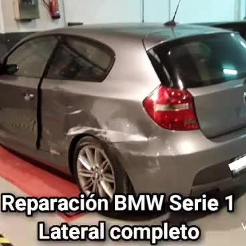 REPARACION LATERAL BMW SERIE 1: Servicios de RAFAEL GASCÓN FERNÁNDEZ