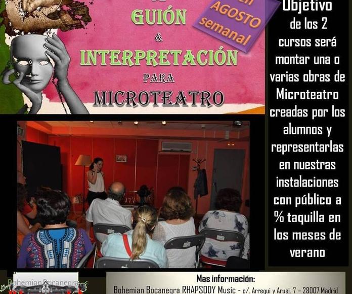 Cursos Intensivos de GUIÓN y/ó INTERPRETACIÓN para MICROTEATRO