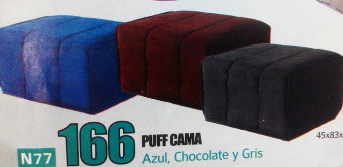 puff cama mod.77: Productos  de Muebles Llueca, S. L.