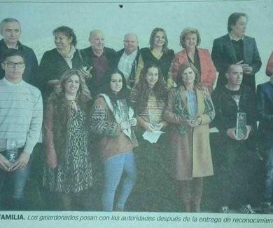 """Acto de entrega de los Premio""""Andalucía más Social 2018""""  Otorgado a la asociación de A.P.L.I.J.E.R."""