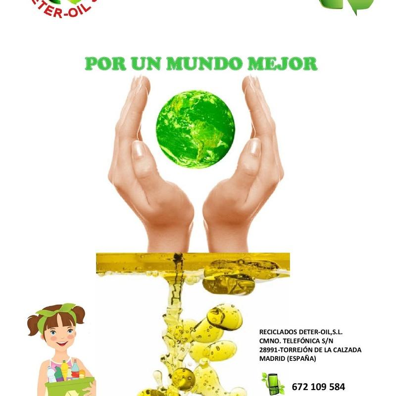 Tiendas: Servicios recogida de aceite de Reciclados Deter-Oil