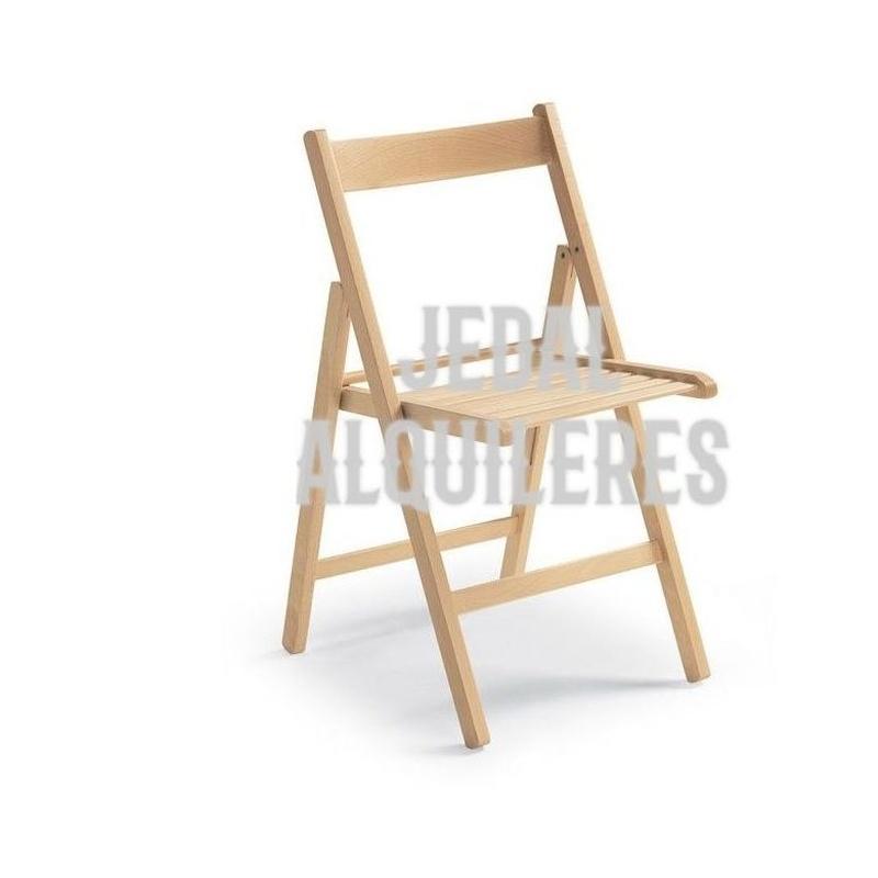 SILLA PLEGABLE MADERA: Catálogo de Jedal Alquileres