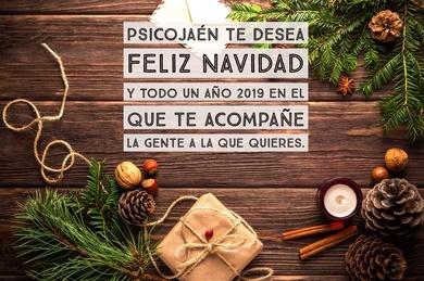 ¡ Desde PSICOJAÉN queremos desearte una Feliz Navidad y un próspero año 2019 !