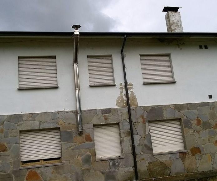 canalón de zinc redondo continuo en Cantabria