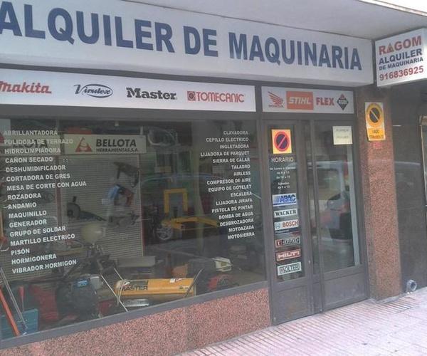 Alquiler de maquinaria de construcción en todo Madrid