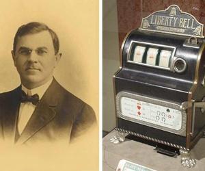 ¿Quién inventó la primera máquina tragaperras?
