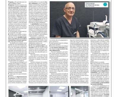 El Dr. Rafael Menéndez explica los motivos de la apertura de una clínica dental en la Calle Ayala