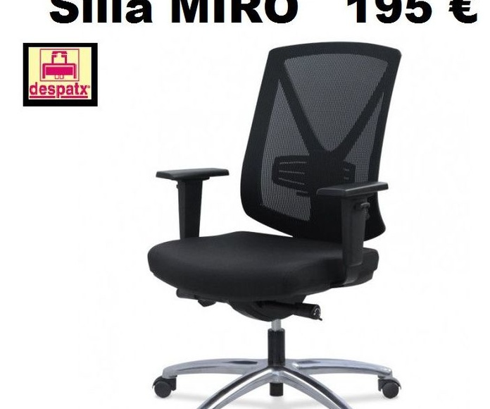 Silla Miró con brazos regulables a 195 €+iva