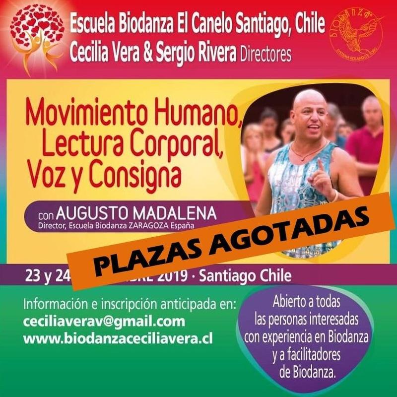 Taller 'Movimiento humano, lectura corporal, voz y consigna': CURSOS de Augusto Madalena