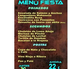 Menú fin de semana: Especialidades de Restaurante Bodegón Ciri