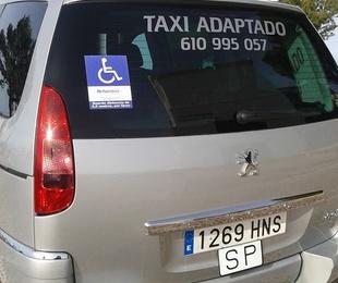 Taxi adaptado para minusválidos