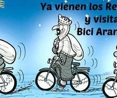 Ya vienen los Reyes Magos y visitan Bici Aranda