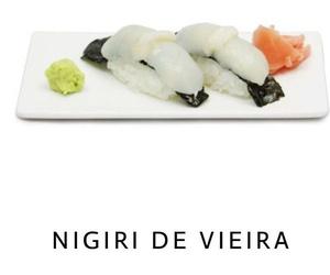 Nigiri de vieira en Malaga