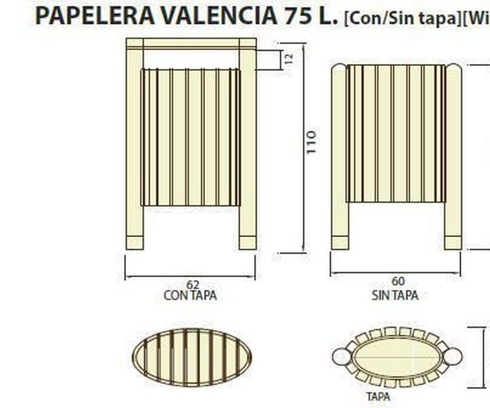Papelera Valencia 75l: ¿Qué podemos ofrecerte? de CM PLASTIK RECYCLING