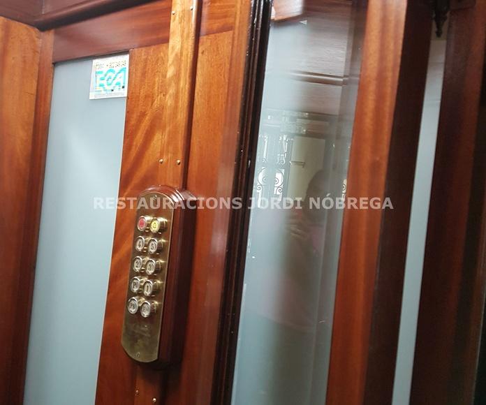 Restauración cabinas de ascensor en Barcelona