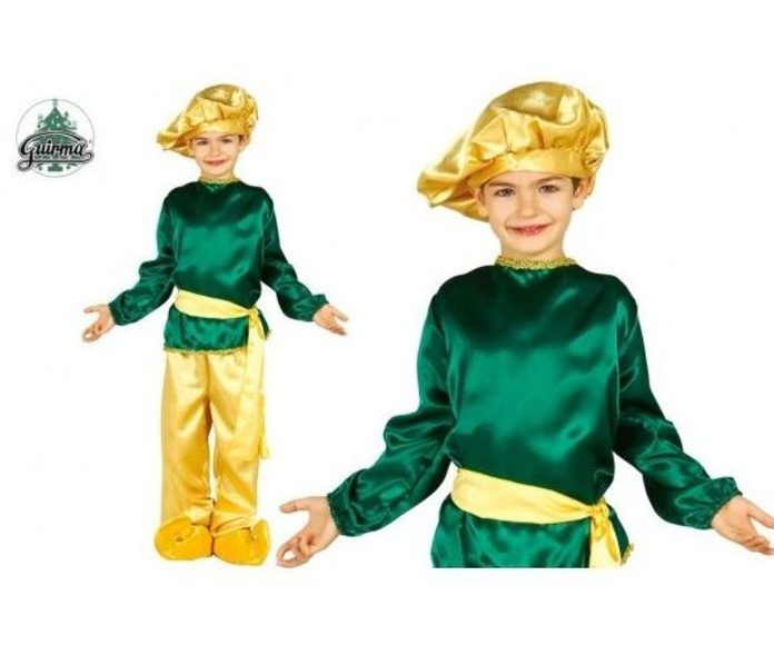 Disfraz paje verde