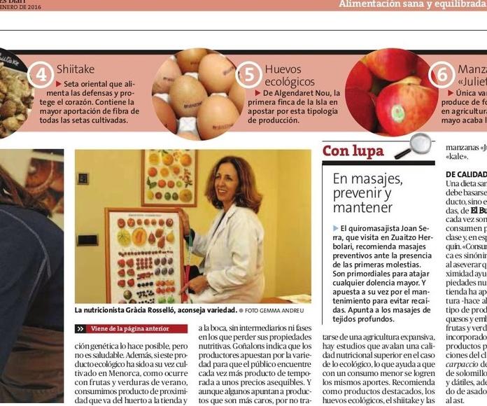 Entrevista en el Periódico Menorca!!