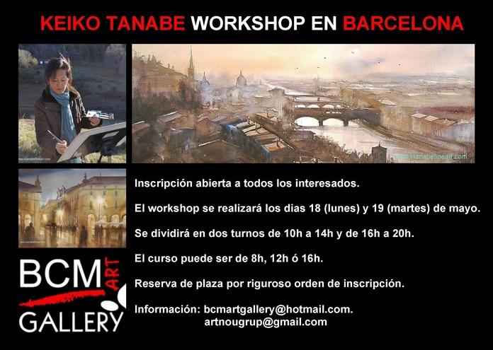 Workshop de Keiko Tanabe en BCM ART GALLERY