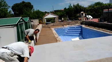 Reformas en piscina