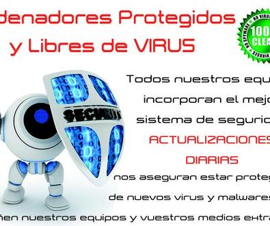 Ordenadores protegidos y libres de virus