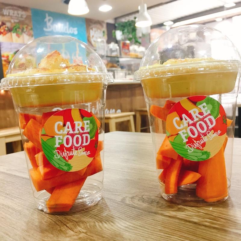 Hummus con cruditex: Carta de Care Food